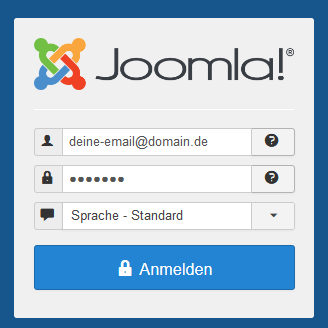 Joomla! E-Mail Login